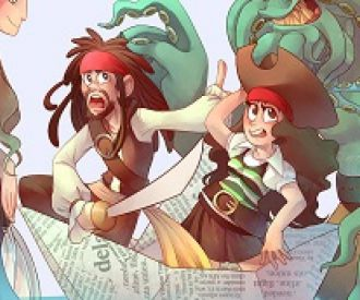 Los piratas del barco de papel-background